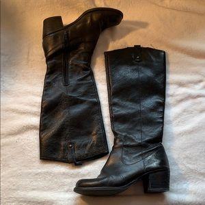 Jessica Simpson Black Leather Riding Boot